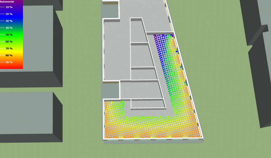 Simulation Thermique Dynamique Autonomie Lumineuse bureaux PARIS