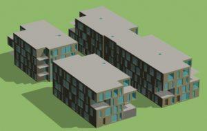 Modélisation 3D Simulation Thermique Dynamique Bureaux à Loos, Nord