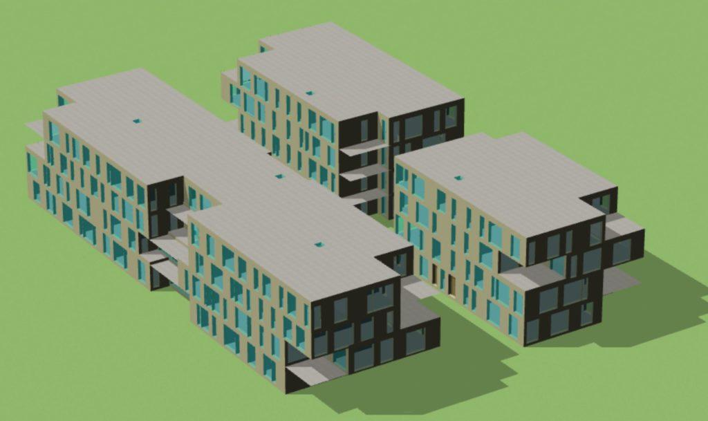 Modélisation 3D Facteur de Lumière du Jour Bureaux à Loos, Nord